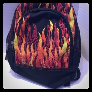 Child's back pack w/ flame design